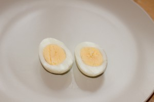 Hard Boiled Egg On Plate