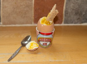 Soft Boiled Egg In Marmite Egg Cup